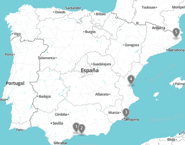 Map Of Spain For Children.The Ultimate Family Road Trip Through Spain Coast City And